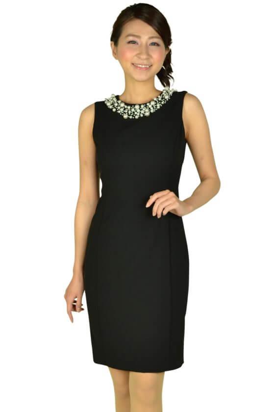 カルバンクライン(Calvin Klein)ビジュタイトブラックドレス