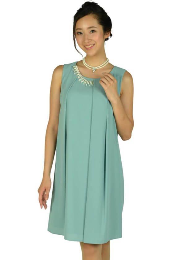 エクリュフィル(ecruefil)パステルミントタックゆったりドレス