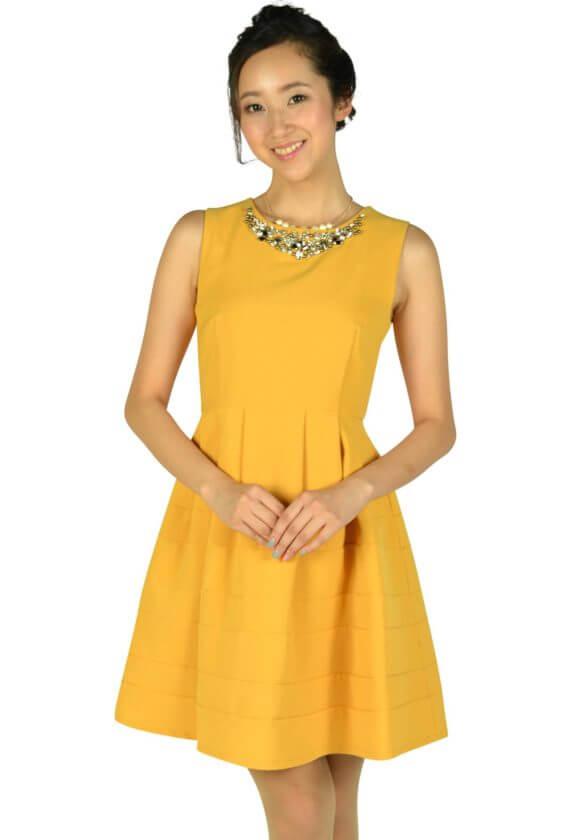 アティラントーレ(Attirantore)豪華ビジュマスタードドレス