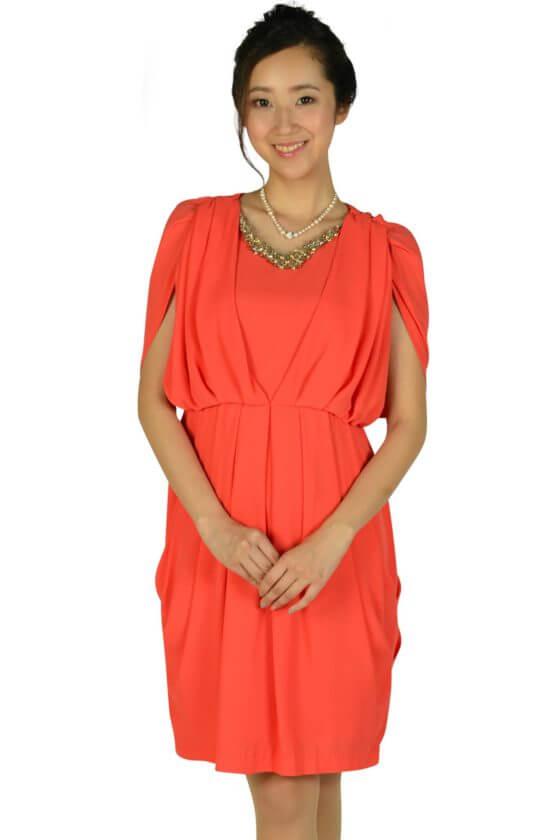 アーバンリサーチ ロッソ(URBAN RESEARCH ROSSO)ゴージャスオレンジドレス