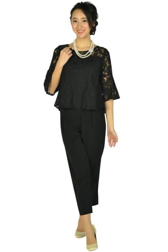 ミベル ミューズ (mebelle muse)レースセパレートブラックパンツドレス