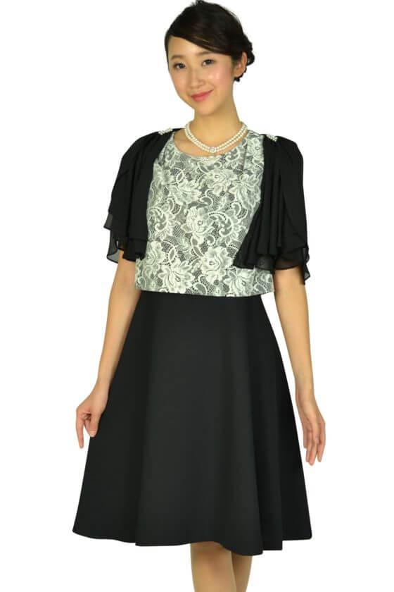 1c8ff87dc0bdf ドレス デコ(DRESS DECO)エレガントブラック×ホワイトレースドレスセット