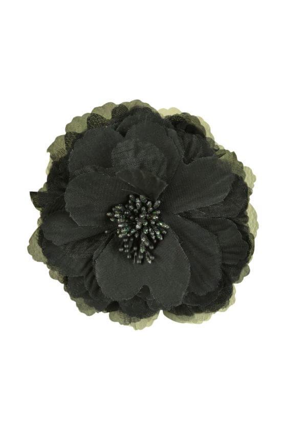 デリセノアール (DELLISE NOIR)ブラックフラワーコサージュ