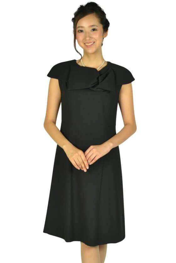 ケティ(ketty)上品付け襟ブラックドレス