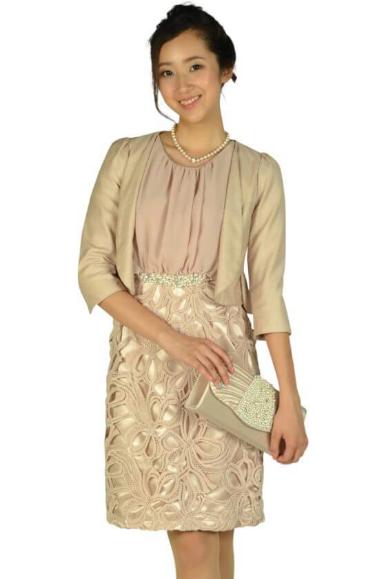 エルモソ(Hermoso)レーススカートピンクベージュドレス