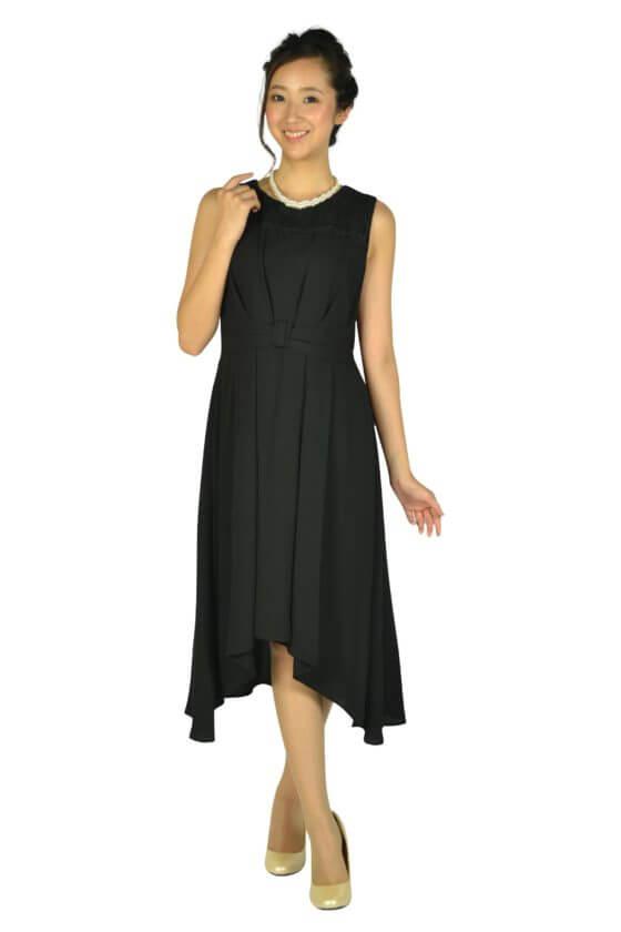 エルモソ(Hermoso)イレギュラーヘムブラックドレス