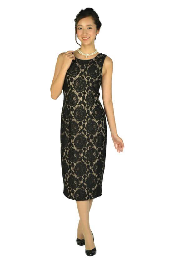 イヴァンカ トランプ(IVANKA TRUMP)ブラック×ベージュミディタイトドレス