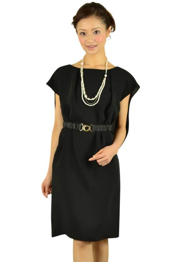 リプリート(REPLETE) ベルト付きブラックドレス